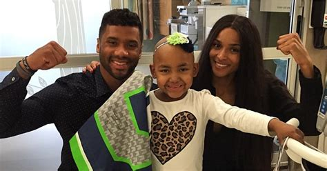 ciara  russell wilson  seattle childrens hospital