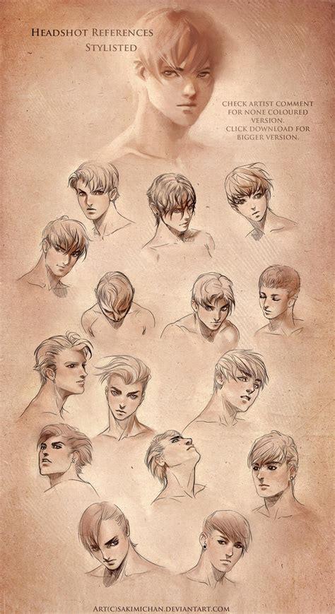 stylized head reference male  sakimichan  deviantart