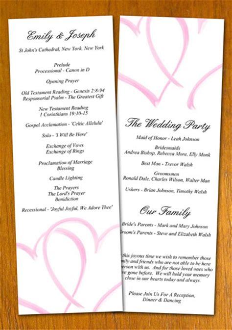 exles of wedding programs templates free sle wedding program template