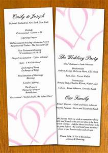 free sample wedding program template With wedding shower program