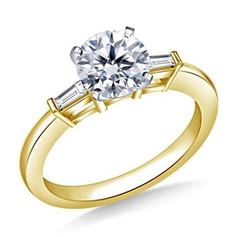 ct tw  diamond engagement ring  tapered