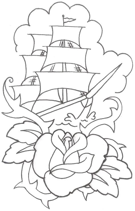 Boat Outline Tattoo by 2 Latest Boat Tattoo Designs And Ideas