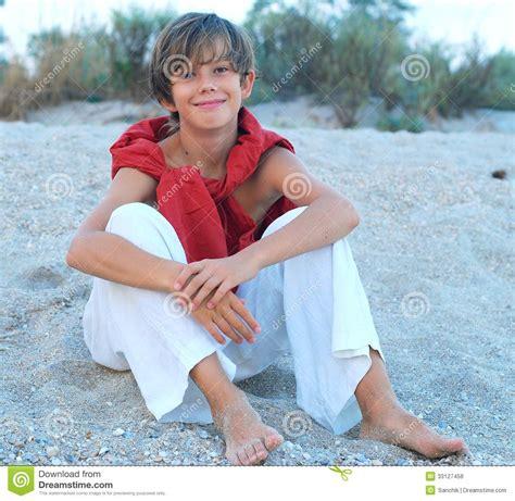 happy boy   beach royalty  stock  image