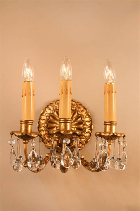 Gold Wall L by Italian Gold Leaf Wall Sconces At 1stdibs