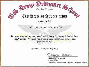 army certificate of achievement example it resume cover With certificate of attainment template