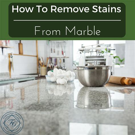 how to remove stains from marble flemington granite