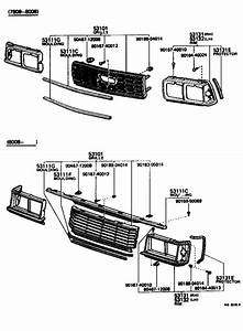 Toyota Corona Moulding  Radiator Grille  Lower  Interior