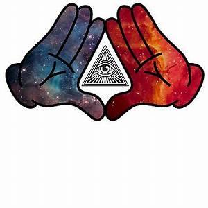 """Trippy Illuminati Hands Diamond"" Women's Fitted Scoop T ..."