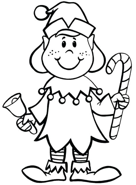 cute christmas elf coloring pages  getcoloringscom