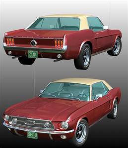 FORD MUSTANG GT 1967 for POSER 3D Models 3DClassics