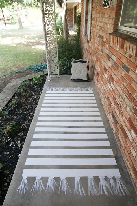how to paint concrete a patio makeover concrete patios