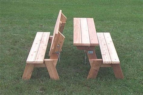 easy picnic table bench plans projects   folding