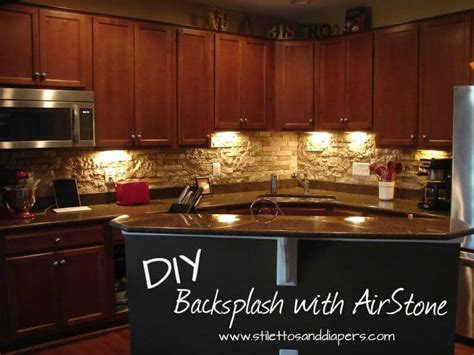 diy stone backsplash  airstone stilettos diapers