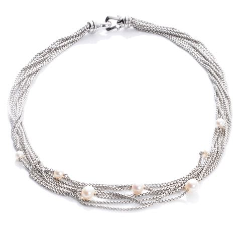 David Yurman Sterling Silver Pearl Multi Chain Necklace 41986. Impala Platinum. Curved Platinum. Dytona Platinum. Metallic Platinum. Stud Platinum. Big Wrist Platinum. Number Platinum. Transparent Platinum