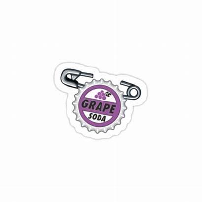 Sticker Grape Soda Redbubble Badge Stickers Disney