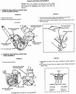 How To Change The Cable On A Power Antenna  1985 Cadillac