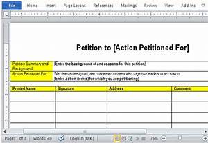 best free petition templates for word With template for petition signatures