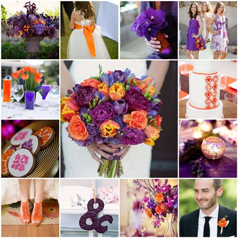 orange purple plum wedding the blushing