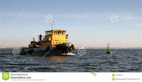 Yellow Tugboat by Small Yellow Tugboat Stock Photography Image 15676012