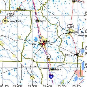 Adel GA Map