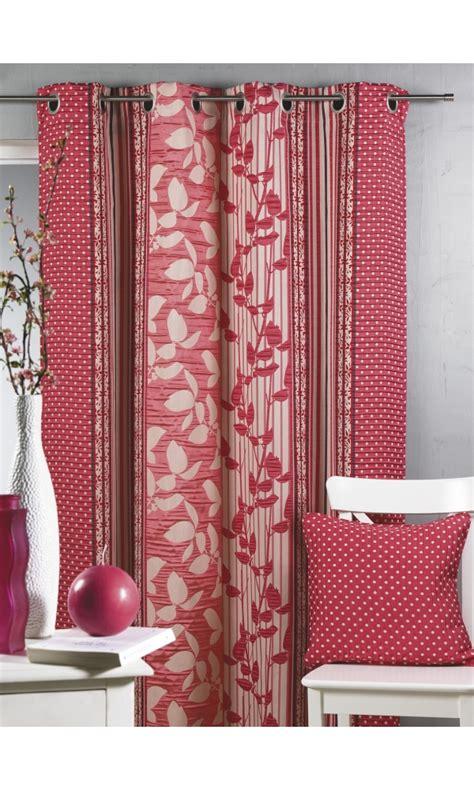 rideau bouchara en jacquard 224 rayures verticales fleuries