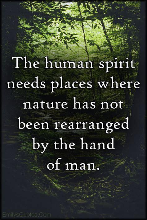 human spirit  places  nature