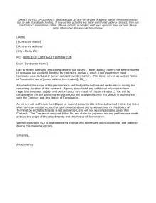 Service Contract Termination Letter Sample