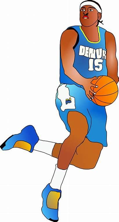 Basketball Clipart Basket Player Players Transparent Animasi