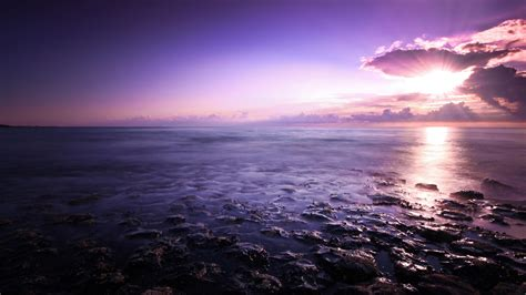 purple seascape wallpapers hd wallpapers id