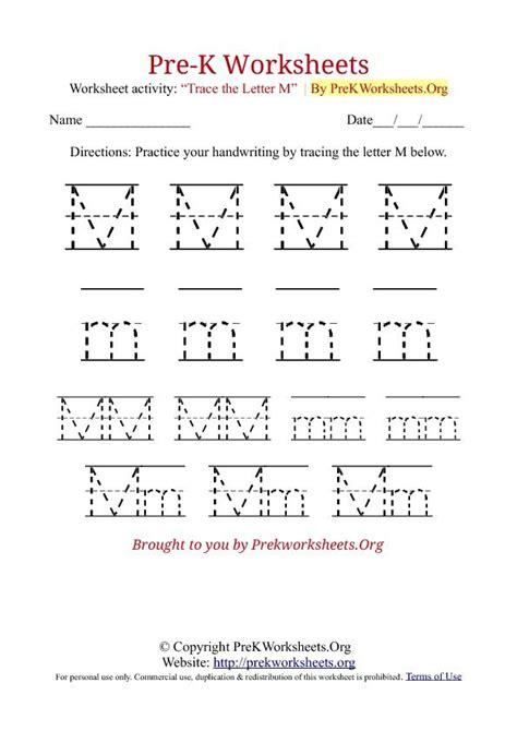 Prek Tracing Worksheet M  Werkbladen Groep 1  2  Pinterest  Worksheets, Tracing Worksheets