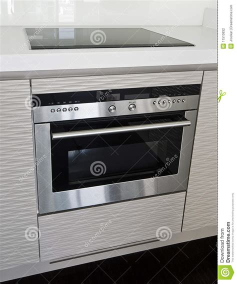 modern electric stove  oven stock photo image