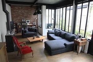 Sejour Style Industriel : atelier loft ouest parisien industriel salle de s jour paris par blandine alric ~ Teatrodelosmanantiales.com Idées de Décoration