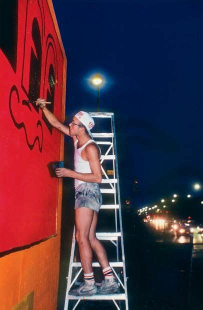 keith haring painting  houstonbowery wall