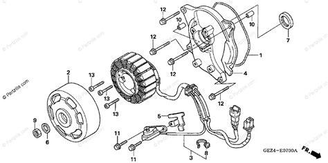 Honda Scooter Oem Parts Diagram For Alternator Stator