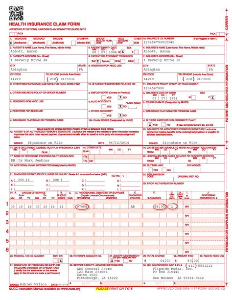 medicare 1500 form 1 generate a cms 1500 form formerly hcfa 1500 phrql help