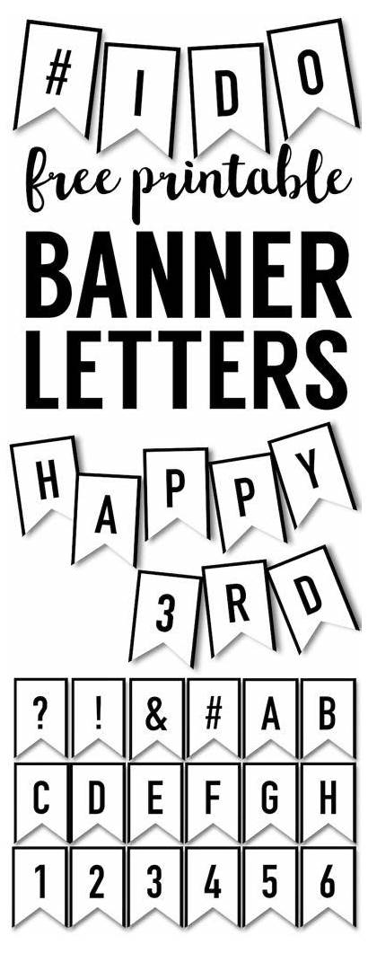 Birthday Banners Banner Printable Letters Templates Diy