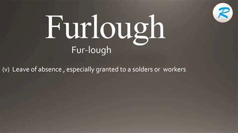 pronounce furlough youtube