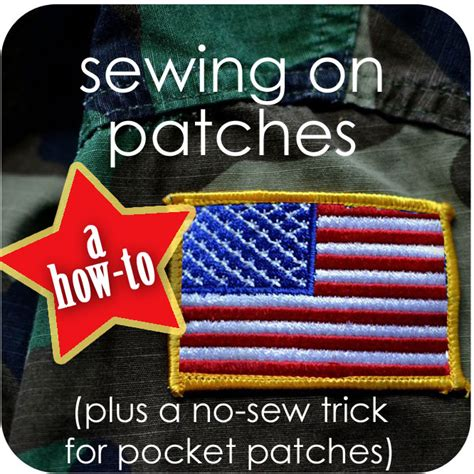 How To Sew On Patches {plus A Nosew Trick For Pocket