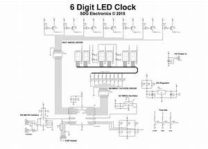 6 Digit Led Clock