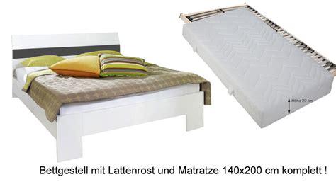 Bett 140x200 Cm Komplett Mit Bettinhalt