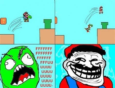 Funny Mario Memes - troll face mario xd funny troll face comics images pinterest funny its always and lol
