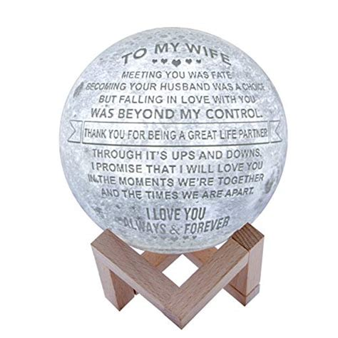 engraved  moon lamp  wifepersonalized