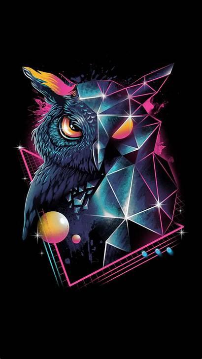 Owl Iphone 4k Wild Wallpapers Dark 80s