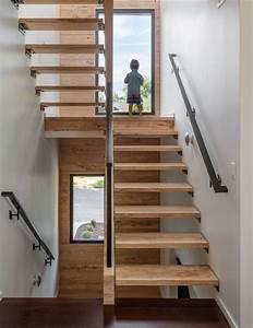 Main Courante En Bois : escalier droit et escalier tournant en 100 designs superbes ~ Nature-et-papiers.com Idées de Décoration