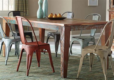 multi coloured table l keller multi color dining table from coaster coleman