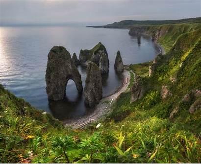 Island Iturup Landscapes Russia Zolotaya Golden Bay