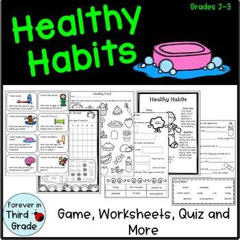 healthy habits by forever in third grade teachers pay teachers