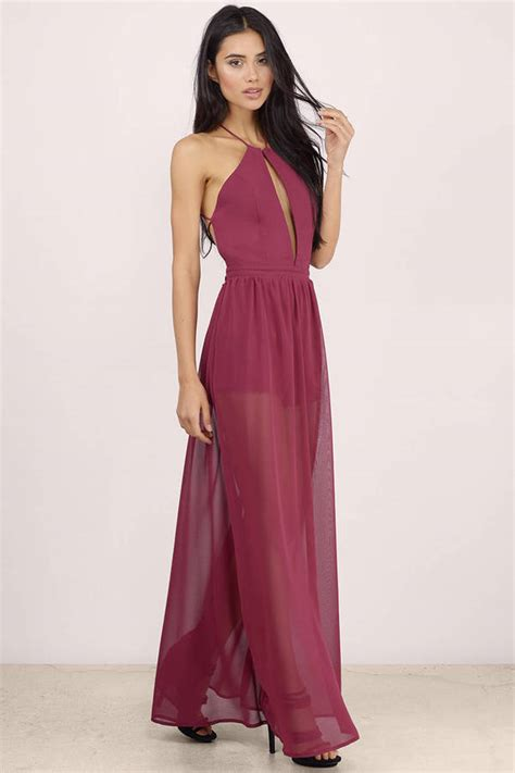 french affair sheer maxi dress  tobi