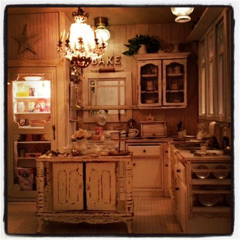 Kitchen Curtains Ideas - beautiful night in my miniature dollhouse kitchen 1 12 scale it 39 s a miniature life pinterest