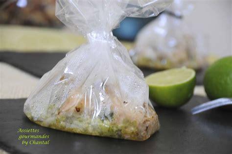 papillotes transparentes saumon coriandre gingembre